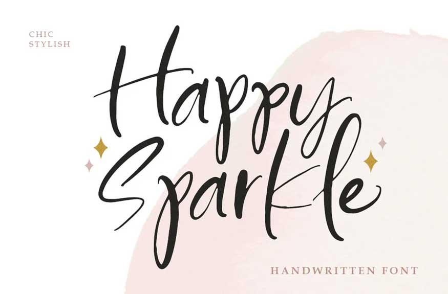 Happy Sparkle - Handwritten Font