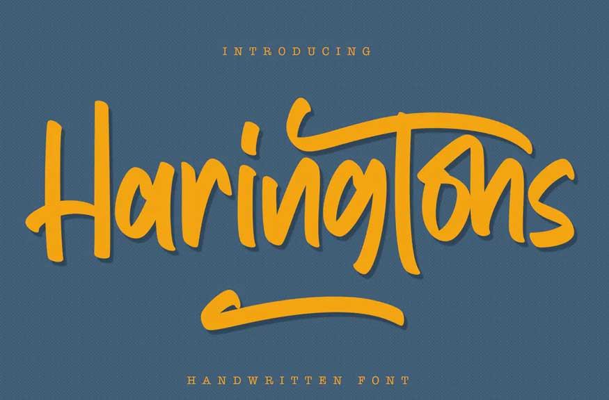 Haringtons - Handwritten Font