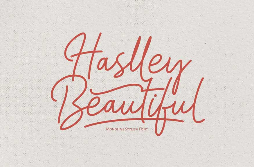 Haslley Beautiful Font