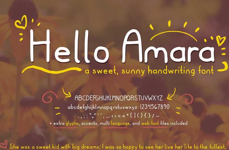Hello Amara Font
