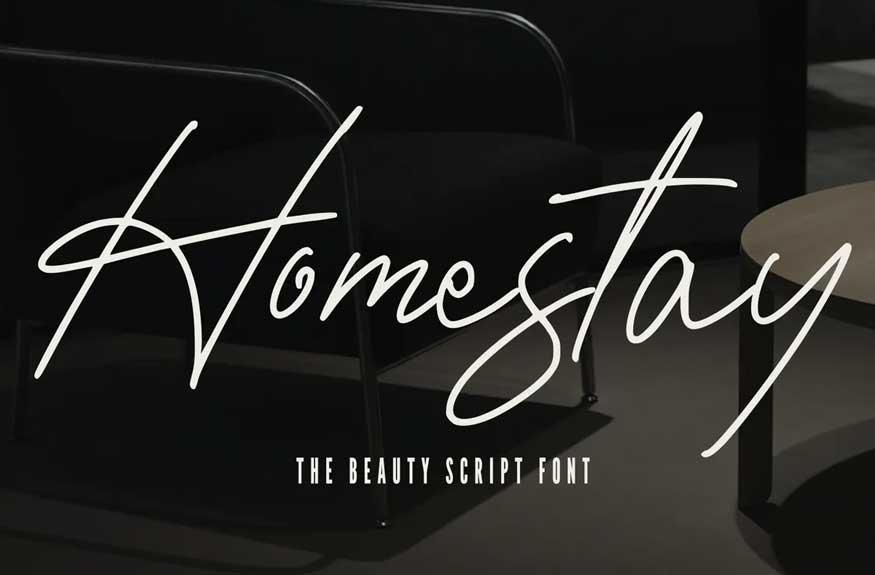 Homestay - The Beauty Script Font