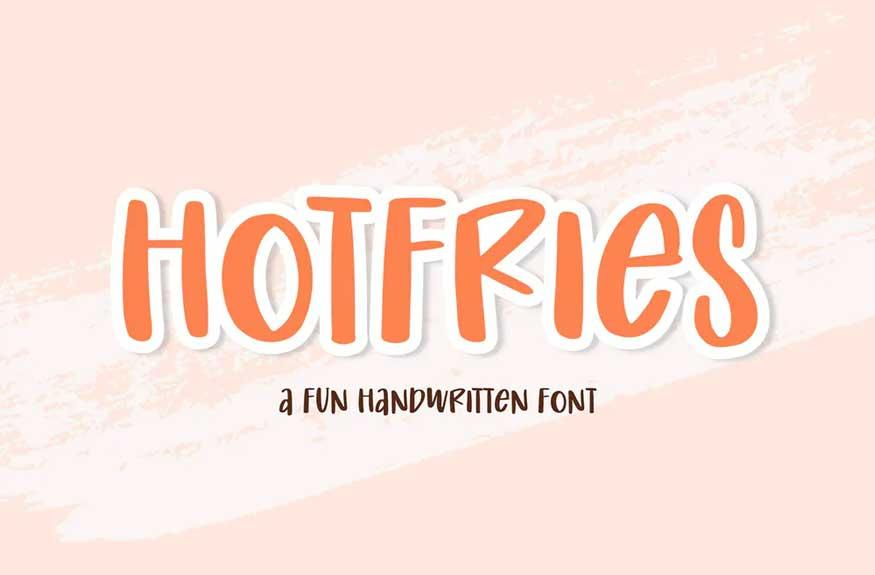 Hotfries Font