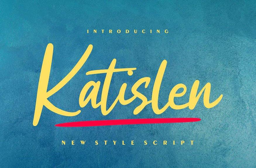 Katislen | New Style Script Font