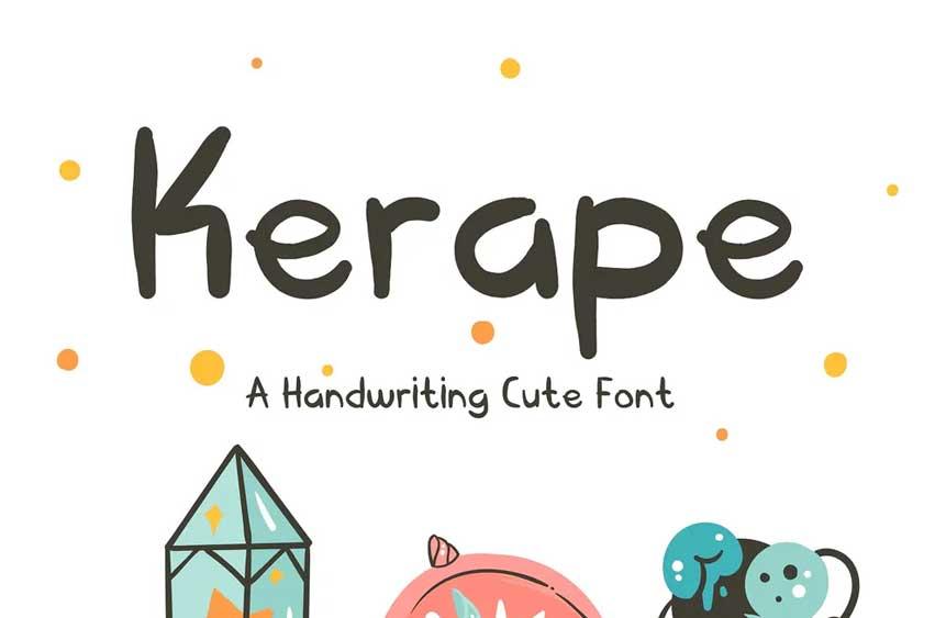 Kerape Handwriting Font