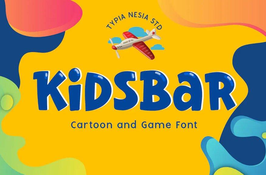 Kidsbar - Fun Game and Cartoon Font