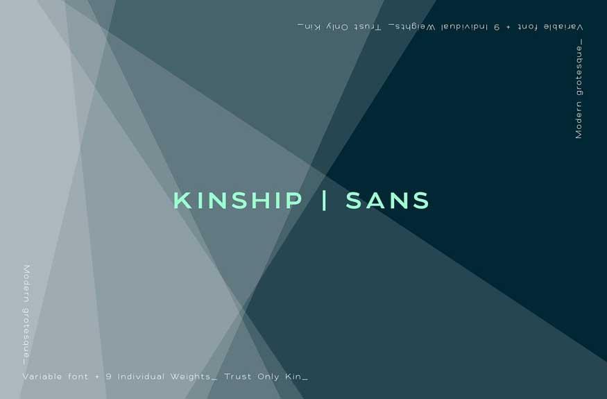 Kinship Sans - Grotesque Font Family