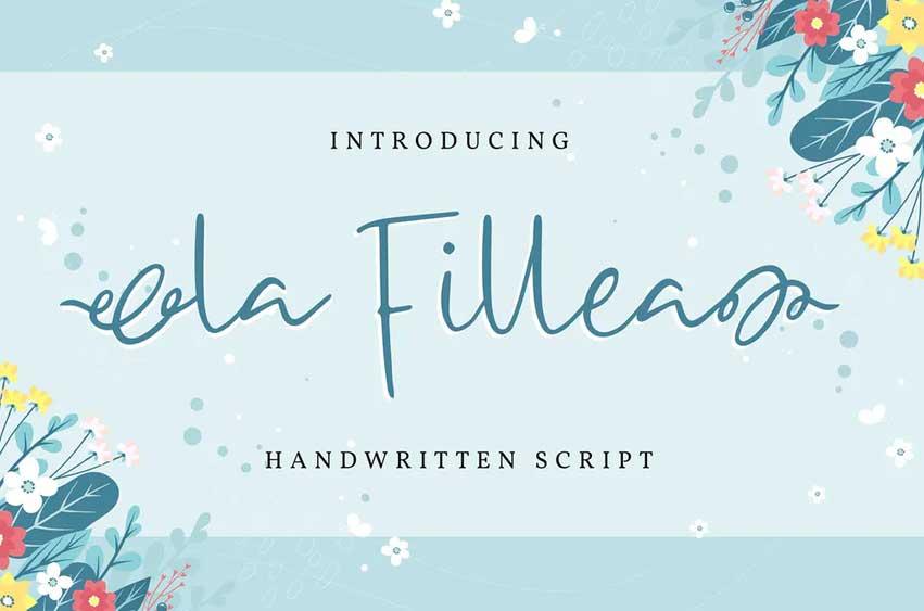 La Fillea   Handwritten Script Font
