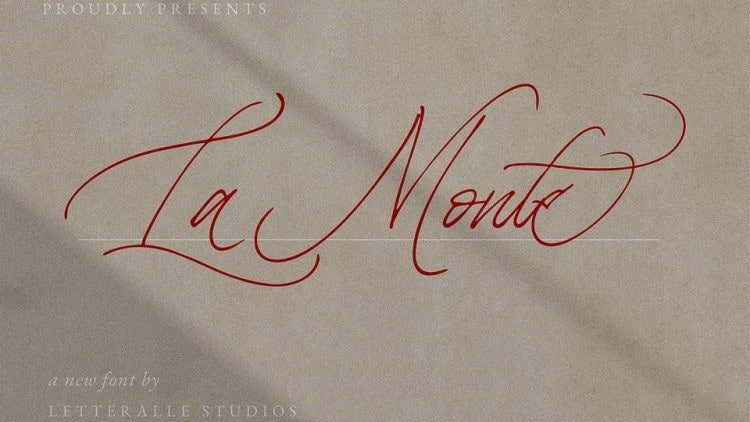 La Monte Script Font