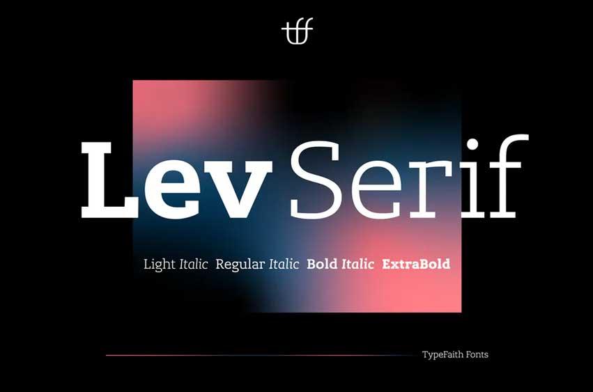 Lev Serif Font