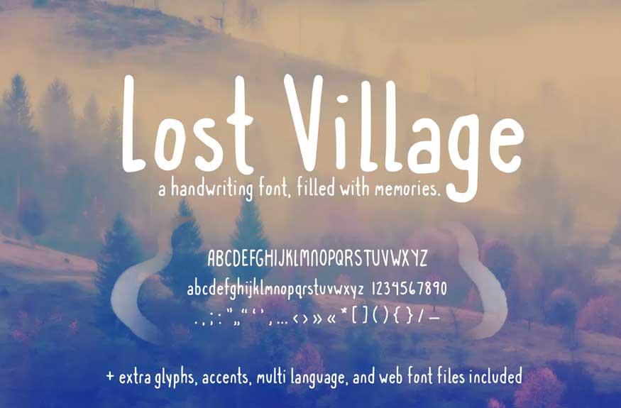 Lost Village Font