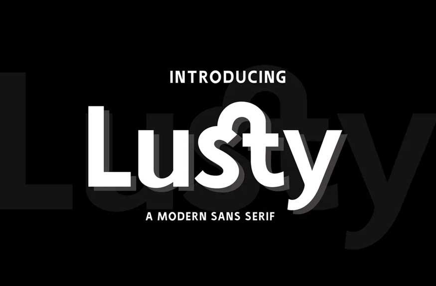 Lusty Font