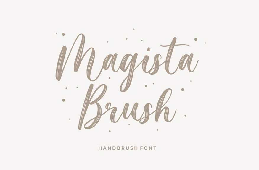 Magista Brush Font