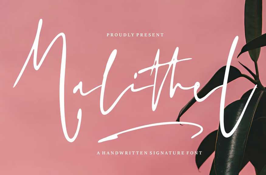 Malithel | Handwritten Signature Font