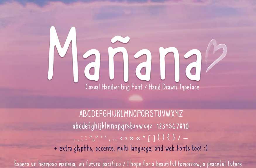 Mañana Casual Handwriting Font