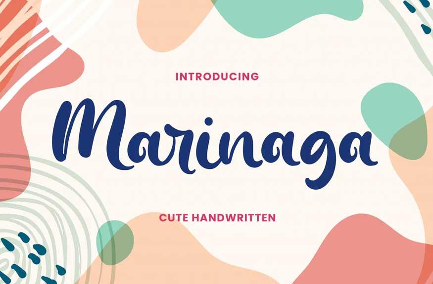 Marinaga - Cute Handwritten