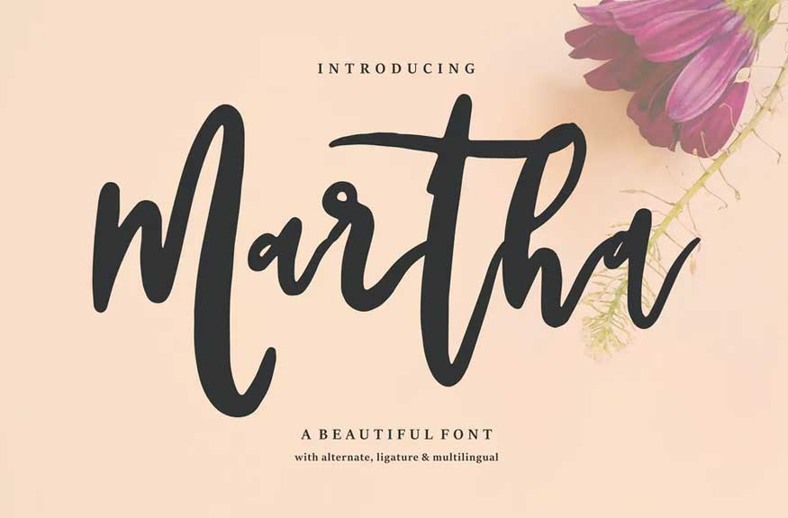 Martha | A Beautiful Font