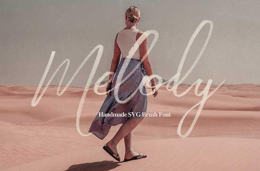Melody SVG Script Font