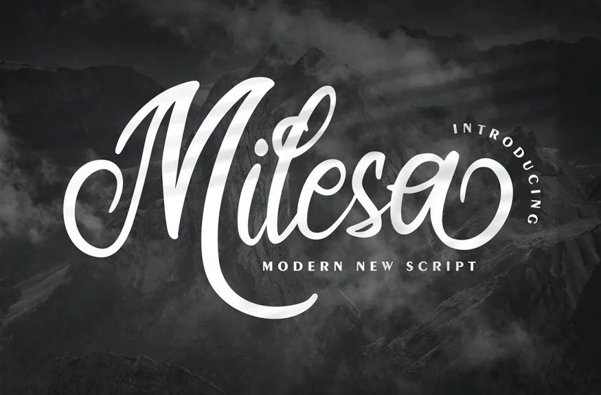 Milesa   Modern New Script