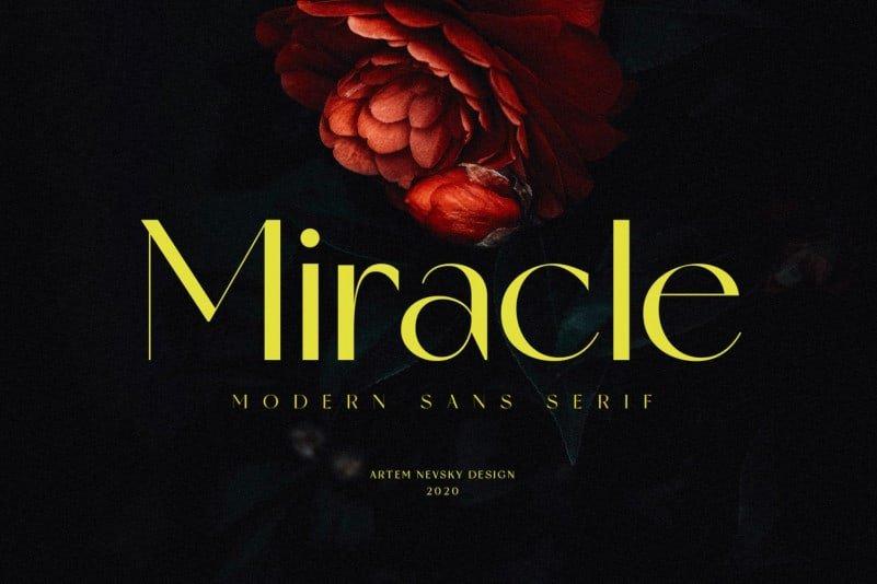 Miracle - Modern Display Sans Serif Font