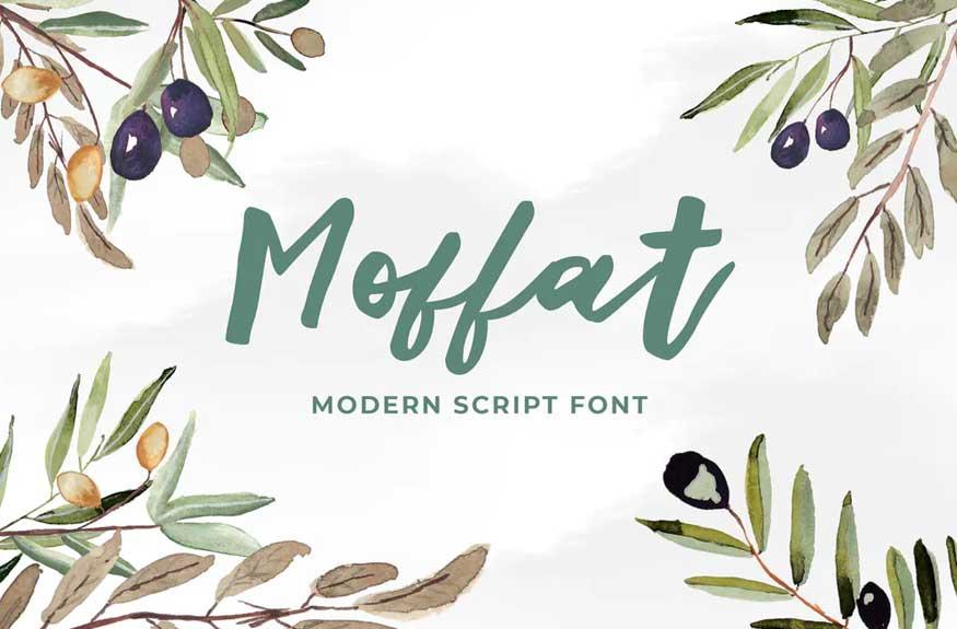 Moffat Modern Script Font