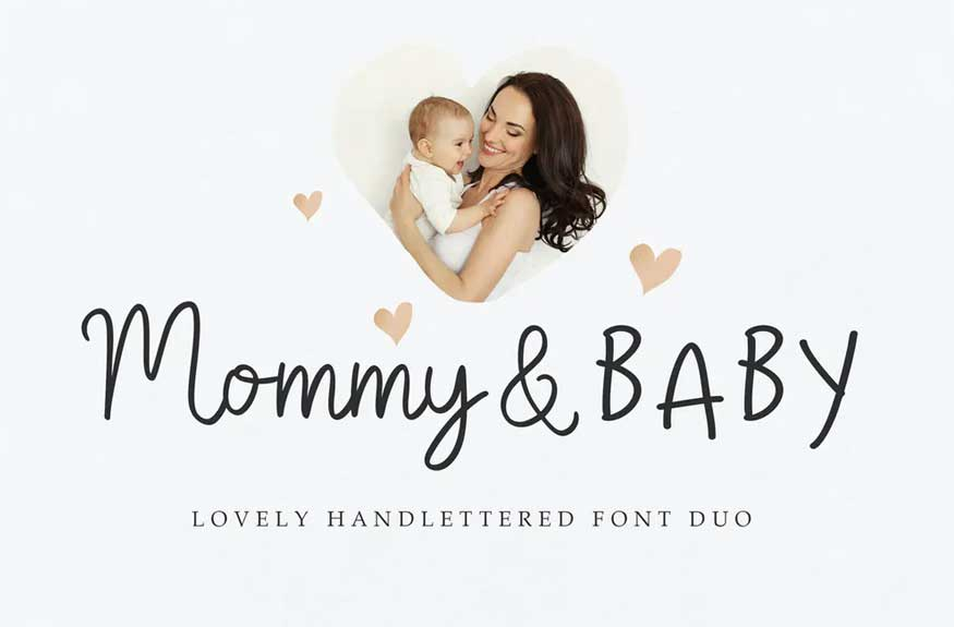 Mommy and Baby Font