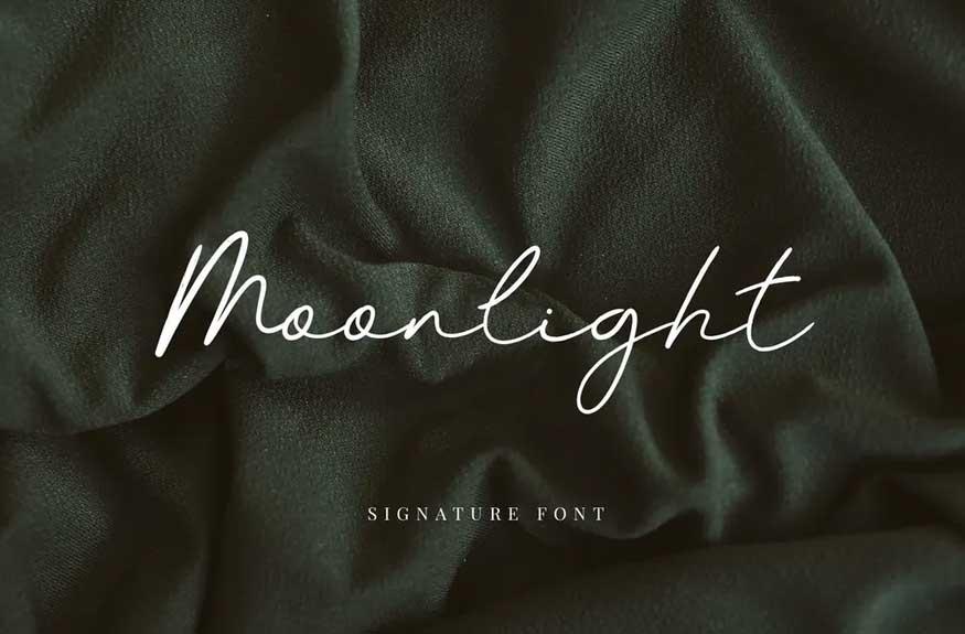 Moonlight Signature Font