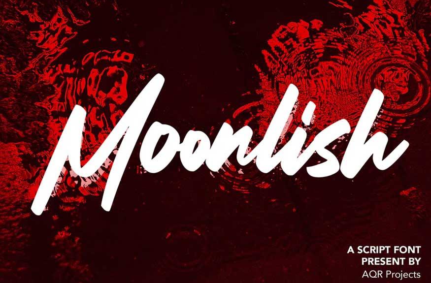 Moonlish - Script Font