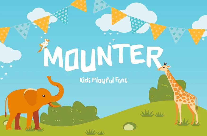 Mounter Kid Display Font