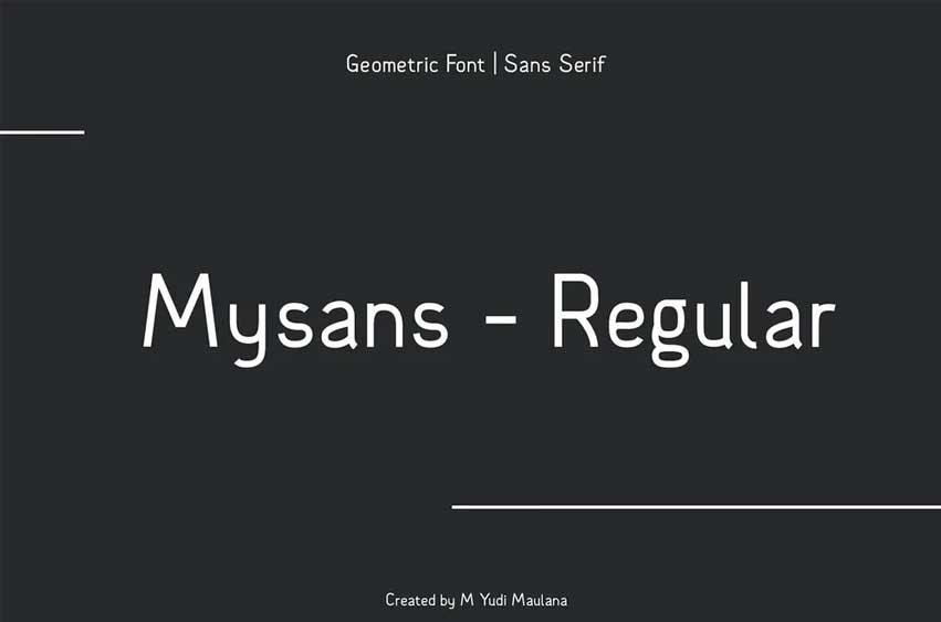 Mysans Sans Serif Font