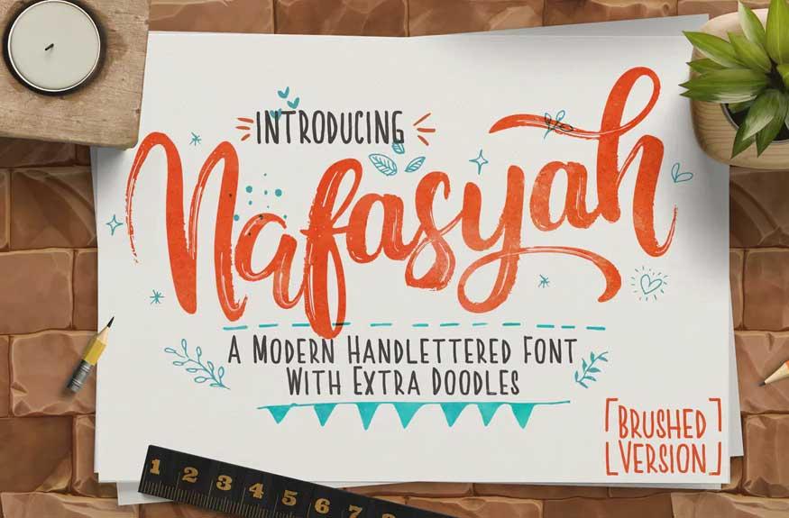 Nafasyah Brushed Font