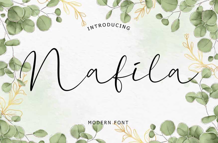Nafila Modern Font