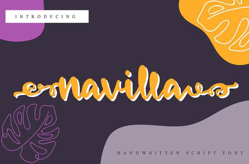Navilla | Handwritten Script Font