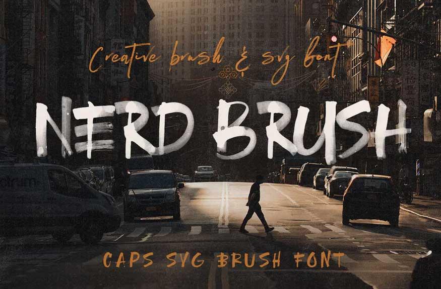 NerdBrush Font