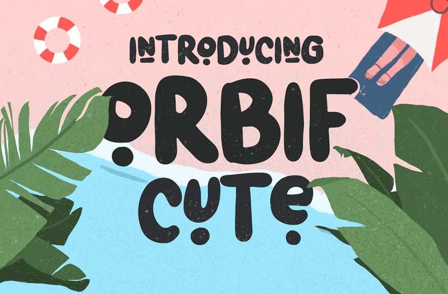 Orbif Cute Typeface