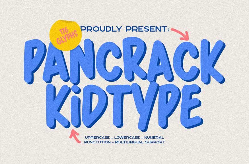 Pancrack Font