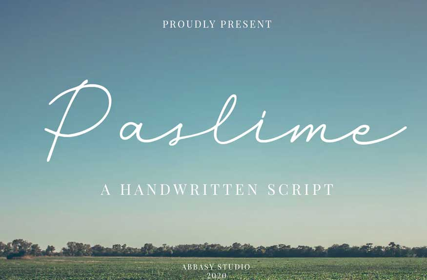 Paslime Font