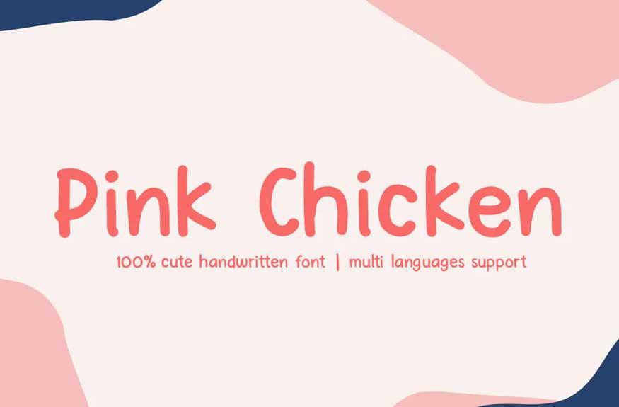 Pink Chicken Font