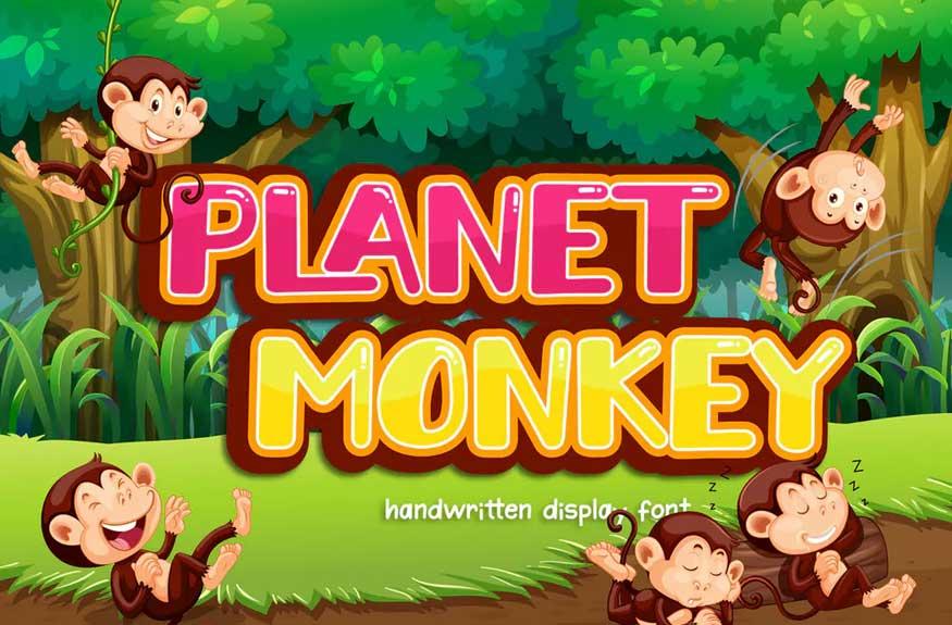 Planet Monkey Font