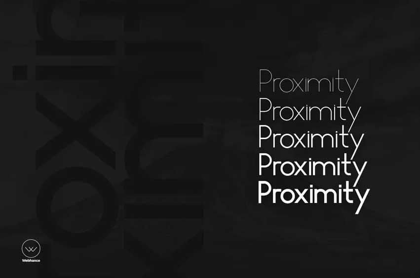 Proximity Sans - Unique Typeface