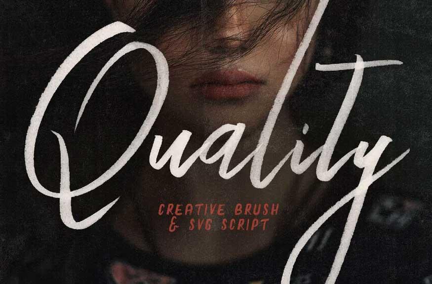 Quality SVG Script Font