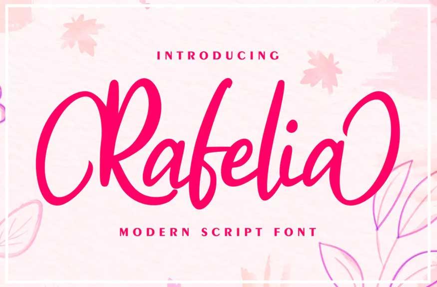 Rafelia | Modern Script Font