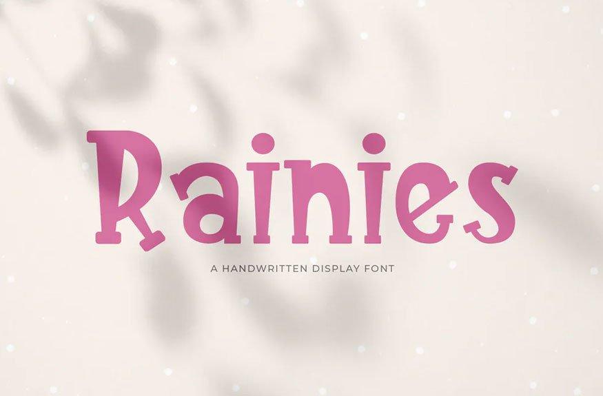 Rainies - A Handwritten Font