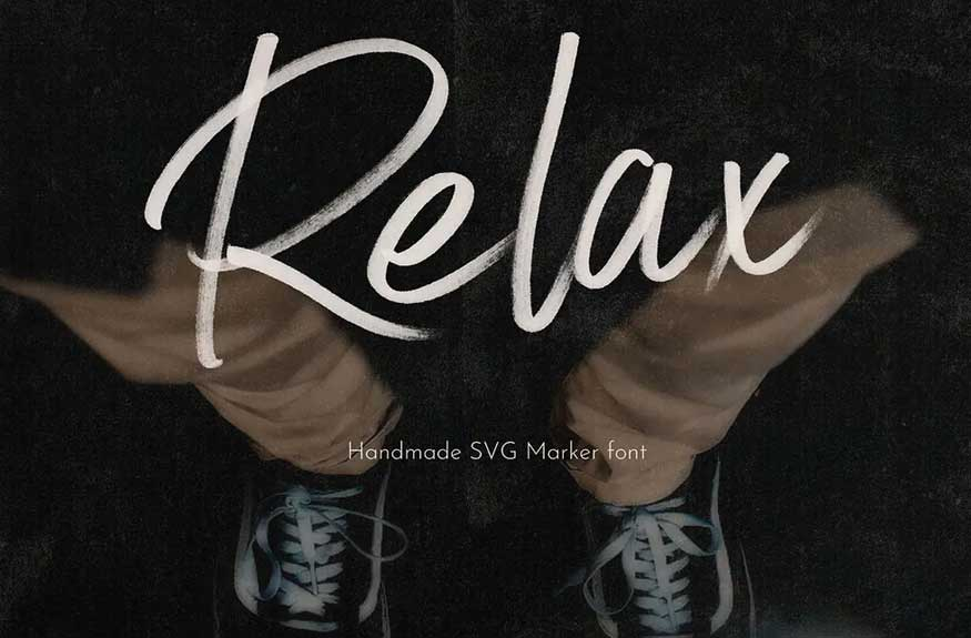 Relax SVG Font