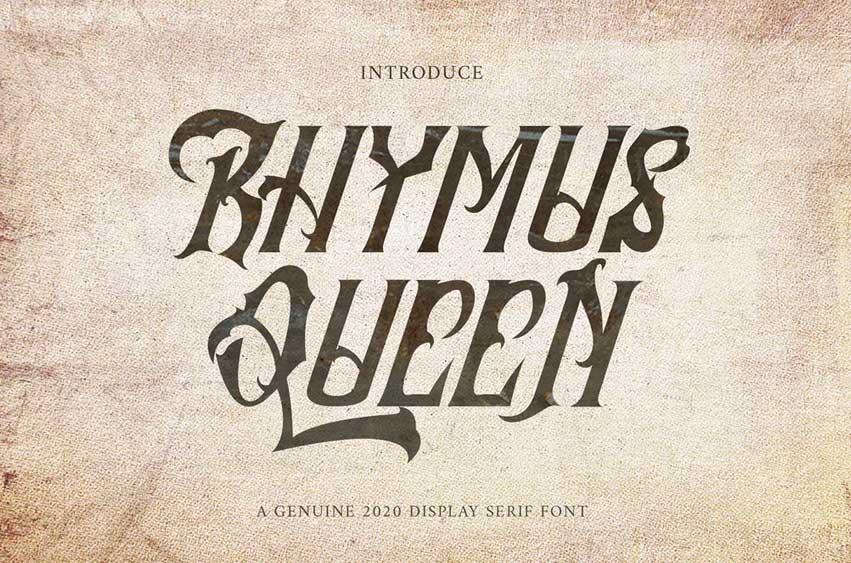 Rhymus Queen - Gothic Blackletter VW