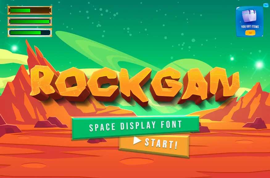 Rockgan Space Font