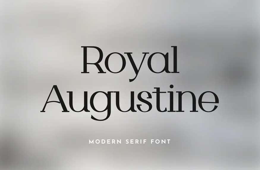Royal Augustine Serif Font