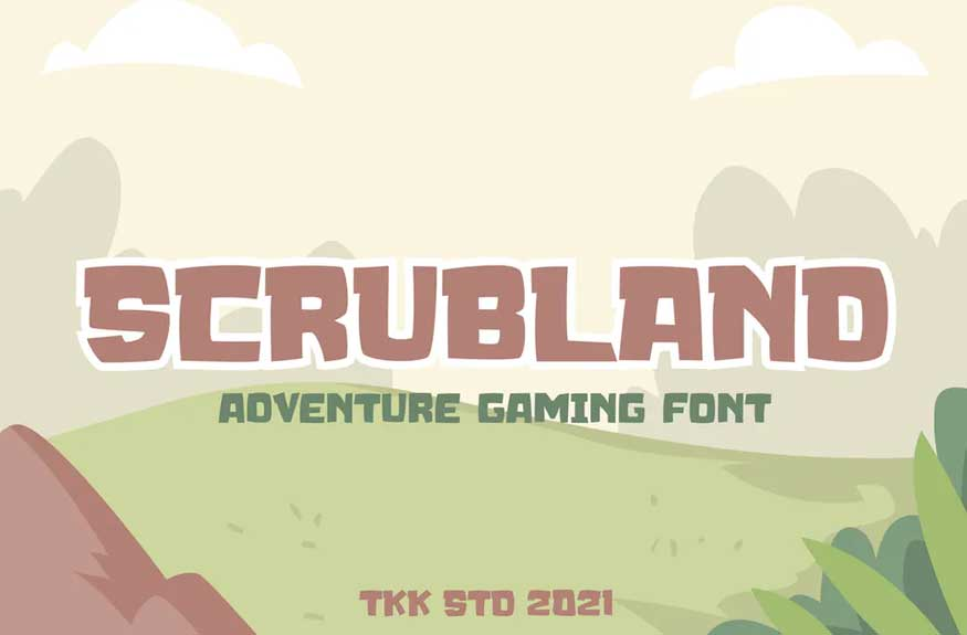 Scrubland Font