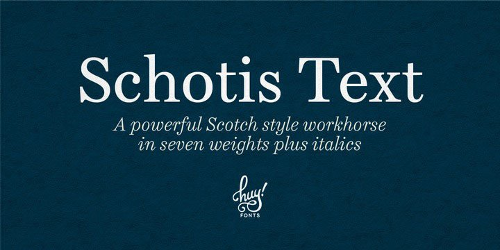 Schotis Text Font Family