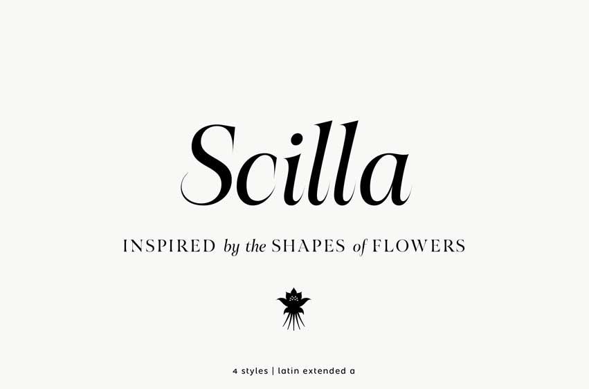 Scilla Font Family