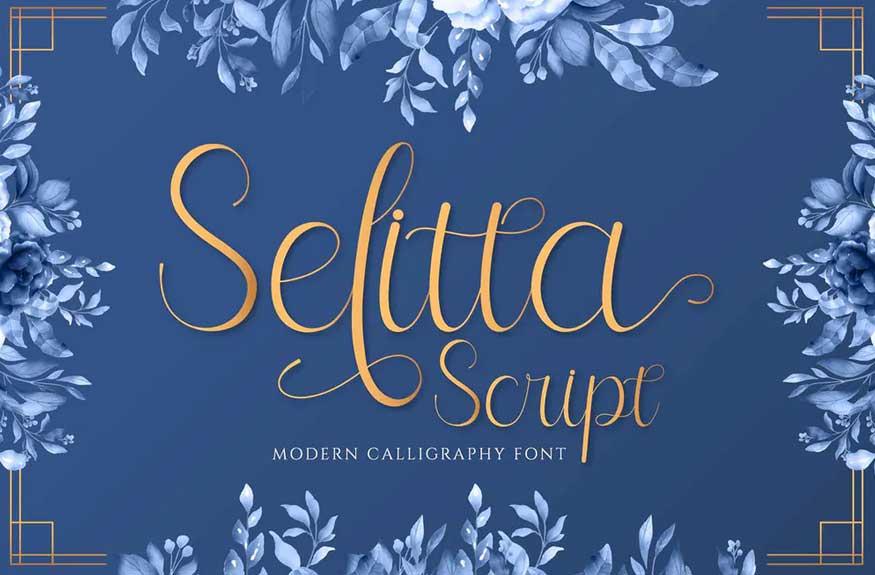 Selitta Script Font